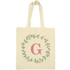 Trendy Initial G Wreath