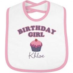 Birthday Bib Khloe