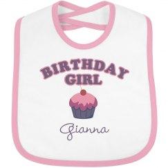 Birthday Bib Gianna