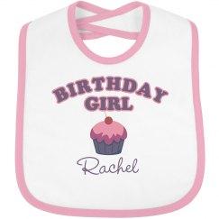 Birthday Bib Rachel