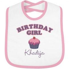 Birthday Bib Khadija