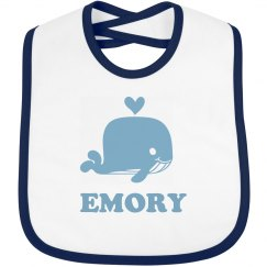 Cute Whale Bib For Baby Emory