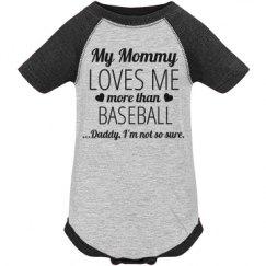 Funny Baseball Baby Onesie