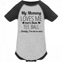 Funny Tee Ball Baby Onesie