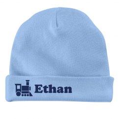 Baby Boy Ethan Train Hat