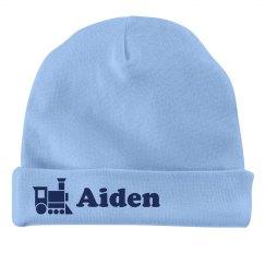 Baby Boy Aiden Train Hat