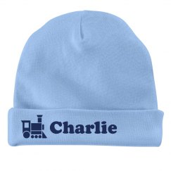 Baby Boy Charlie Train Hat