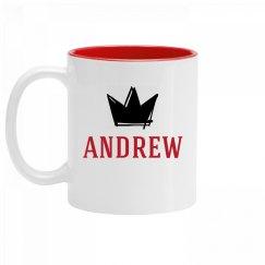 Personalized King Andrew Mug