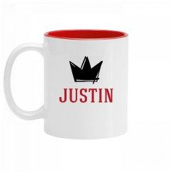 Personalized King Justin Mug
