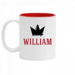 Personalized King William Mug