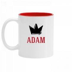 Personalized King Adam Mug