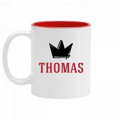 Personalized King Thomas Mug