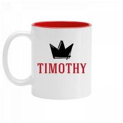 Personalized King Timothy Mug