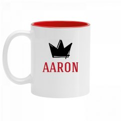 Personalized King Aaron Mug