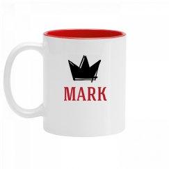 Personalized King Mark Mug