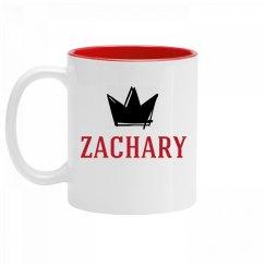 Personalized King Zachary Mug