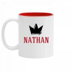 Personalized King Nathan Mug