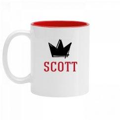 Personalized King Scott Mug