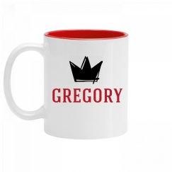 Personalized King Gregory Mug