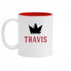 Personalized King Travis Mug