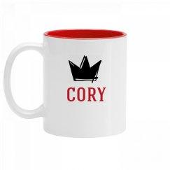 Personalized King Cory Mug