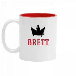 Personalized King Brett Mug