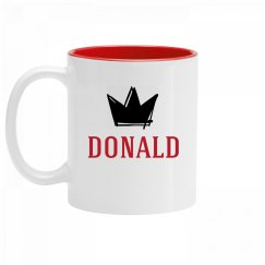 Personalized King Donald Mug