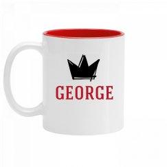 Personalized King George Mug