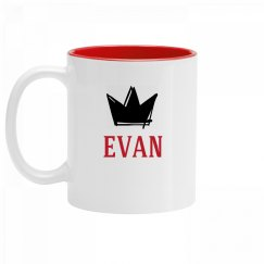 Personalized King Evan Mug