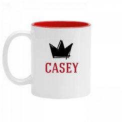 Personalized King Casey Mug