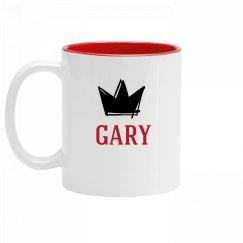 Personalized King Gary Mug