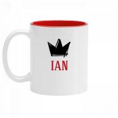 Personalized King Ian Mug