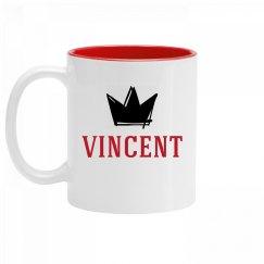 Personalized King Vincent Mug
