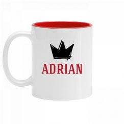 Personalized King Adrian Mug