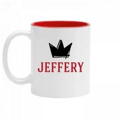 Personalized King Jeffery Mug