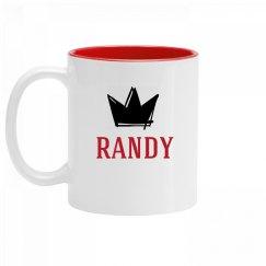 Personalized King Randy Mug