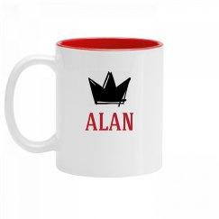 Personalized King Alan Mug