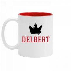 Personalized King Delbert Mug