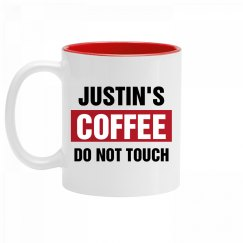 Justin's Coffee Do Not Touch