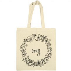 Cute Floral Amy Tote Bag
