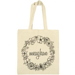 Cute Floral Meaghan Tote Bag