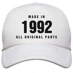 Made In 1992 Birthday Snapback
