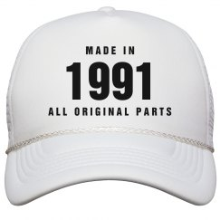 Made In 1991 Birthday Snapback