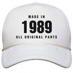 Made In 1989 Birthday Snapback
