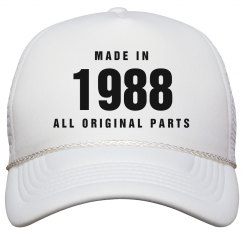 Made In 1988 Birthday Snapback