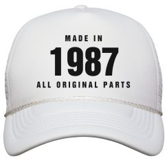 Made In 1987 Birthday Snapback