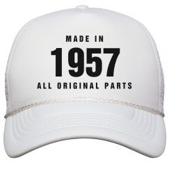 Made In 1957 Birthday Snapback