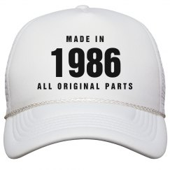 Made In 1986 Birthday Snapback
