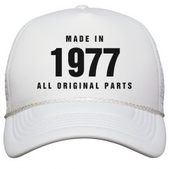 Made In 1977 Birthday Snapback