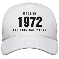 Made In 1972 Birthday Snapback